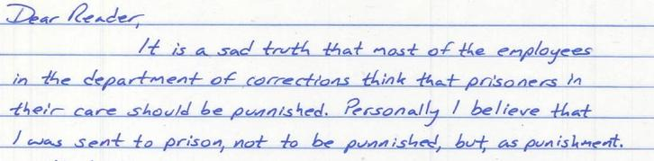 Prison as punishment, or to be punished in?