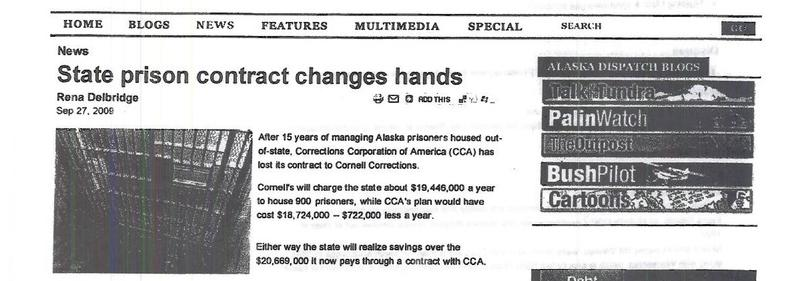 State Prison Contract Changes Hands (via Alaska Dispatch)