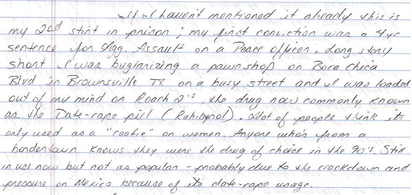 Entry #8: Changes in prison regarding inmate behavior