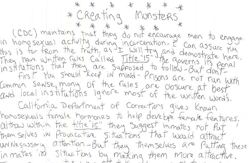 Creating Monsters