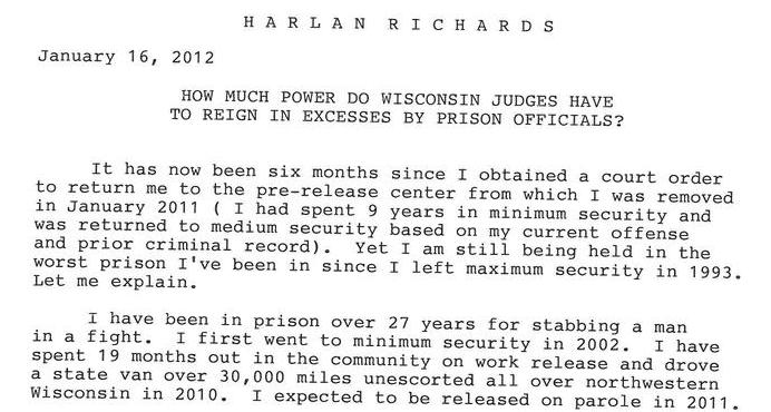 How Much Power Do Wisconsin Judges have To Reign In Excesses By Prison Officials?
