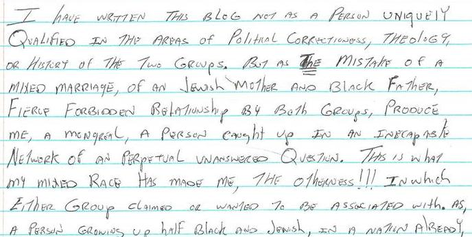 Finding My Place Part V