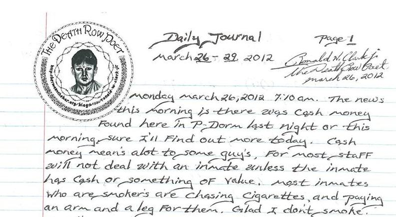 Daily Journal March 26-29, 2012