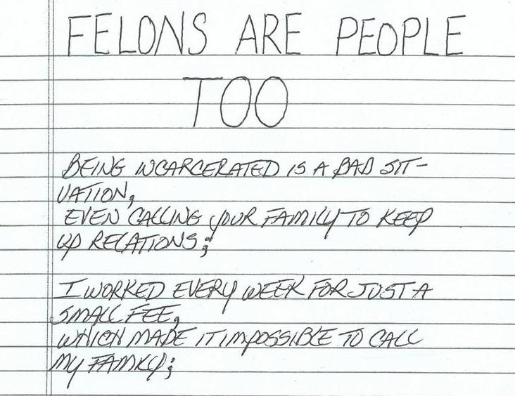 Felons are People Too