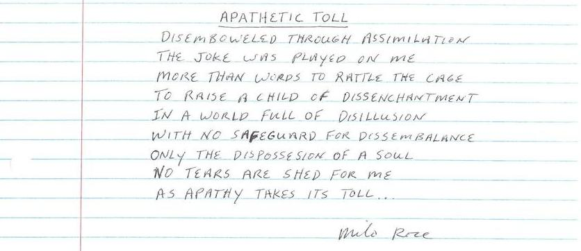 Apathetic Toll