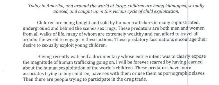 Human Trafficking And The Sexploitation Of The World's Youth Population