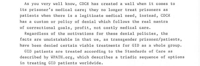 Transgender Policy Of Denial