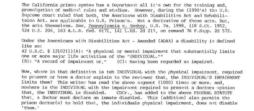 Americans With Disabilities Act - Amended