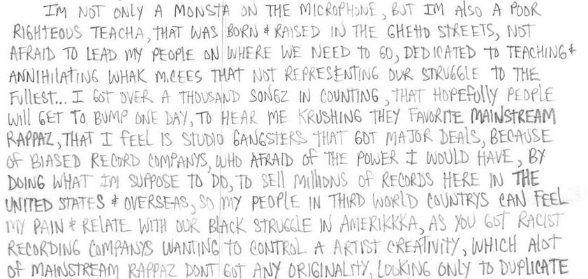 Redemption, Ltr 110: I Am Hip Hop
