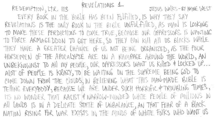 Redemption, Ltr 113: Revelations 1