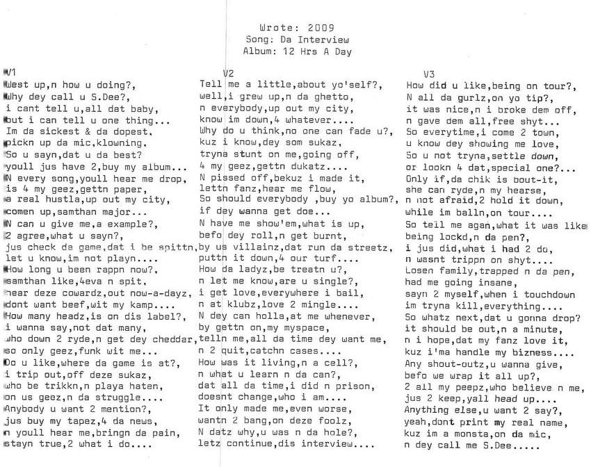 Song: Da Interview
