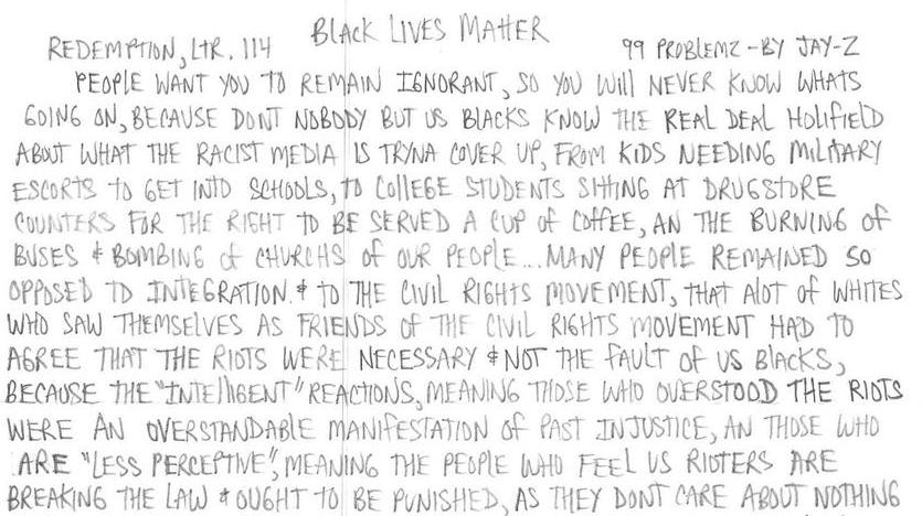 Redemption Ltr, 114: Black Lives Matter