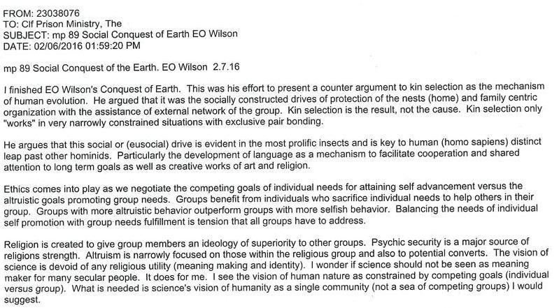 mp 89 Social Conquest of Earth EO Wilson