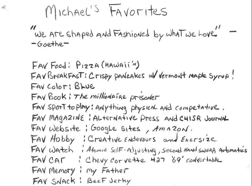 Michael's Favorites