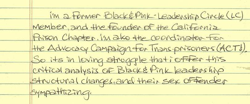 A Critique of Black & Pink