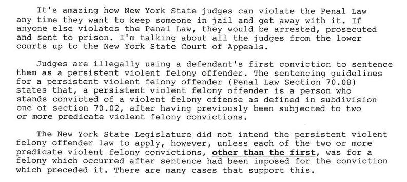 New York State Judges need to rule according to the law