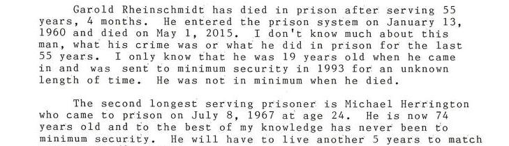 The Longest Serving Wisconsin Prisoner Has Died