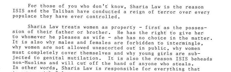 Sharia Law - A Pernicious Evil