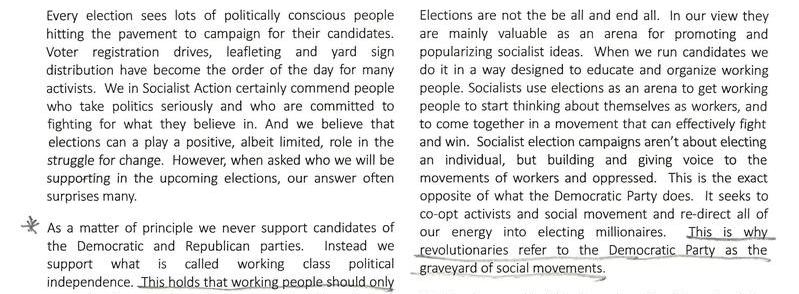 A Socialist Election Strategy