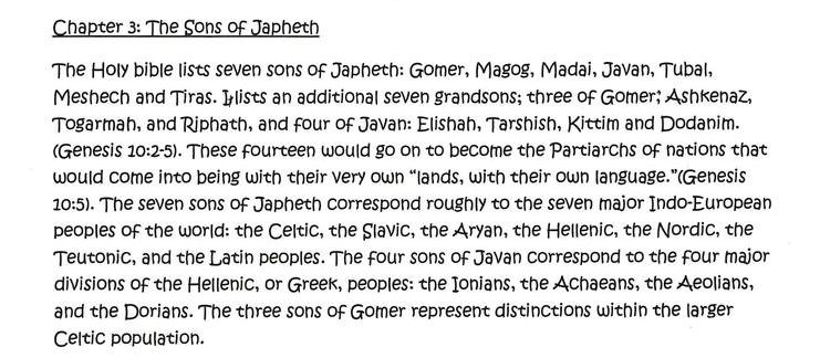 Chapter 3: The Sons of Japheth