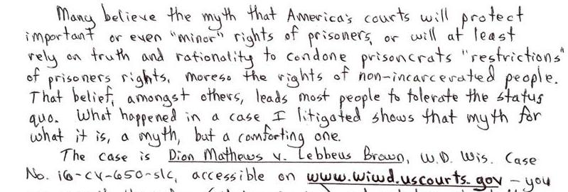 An Example Of Myth = Justice In America's Court