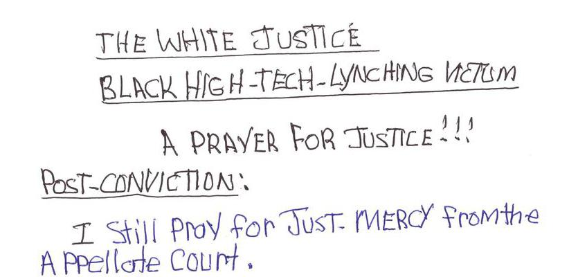 The White Justice Black High-Tech-Lynching Victim