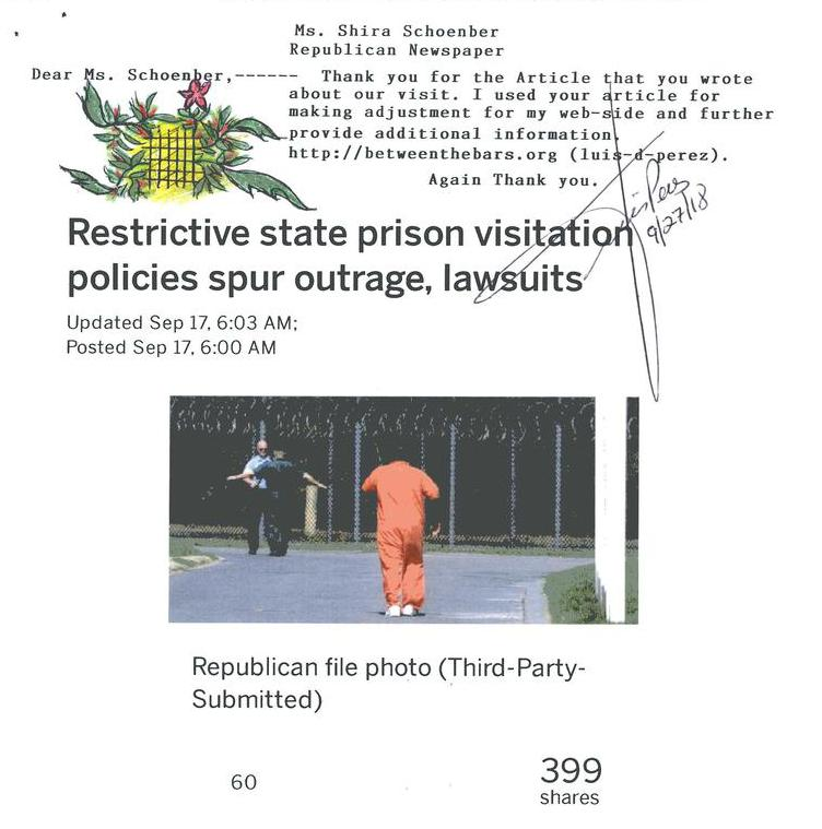 Restrictive state prison visitation policies spur outrage, lawsuits