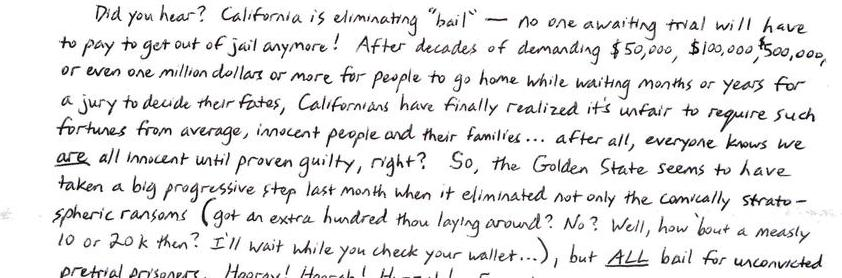 California's Fabulously Progressive New Get Out Of Jail Card