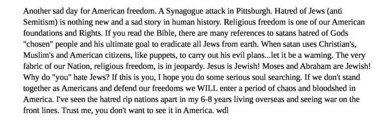 Synagogue attack and hatred of Jews