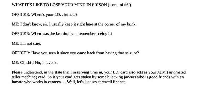 What it's like to lose your mind in prison (cont. of #6)