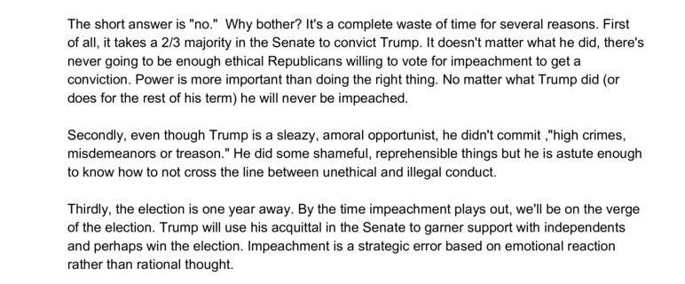 Should Donald Trump Be Impeached?