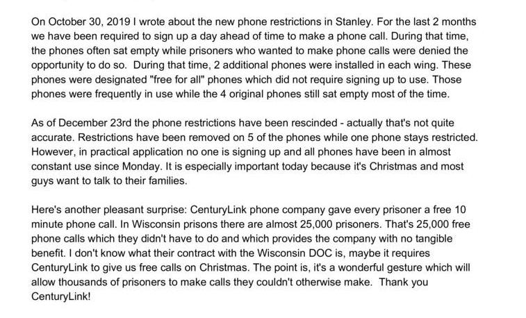 Stanley Phone Rules Suspended