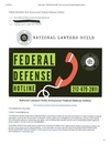 NLG Announces Federal Defense Hotline