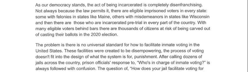 Getting Prisoners To The Polls With Vote By Mail In Jail