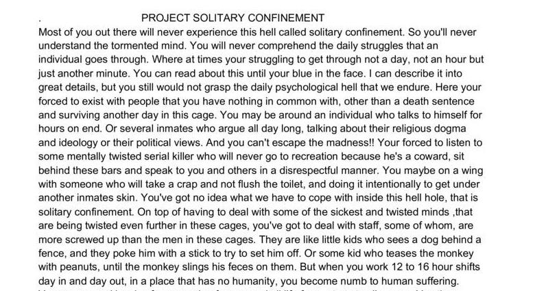 Project Solitary Confinement