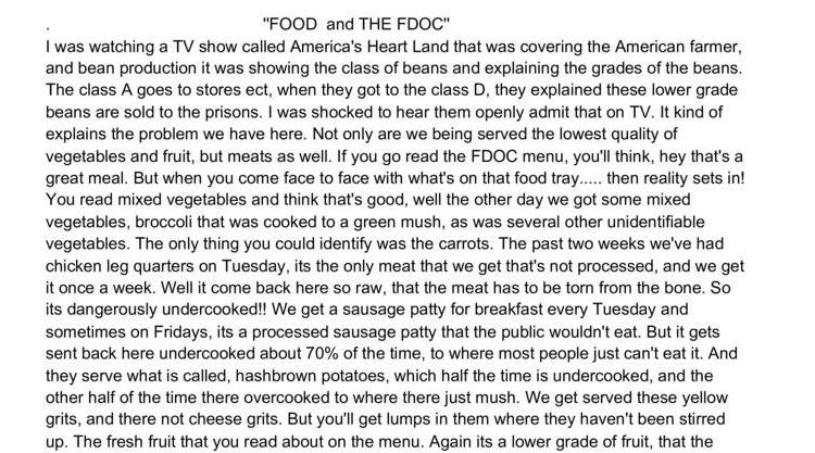 Food and the FDOC