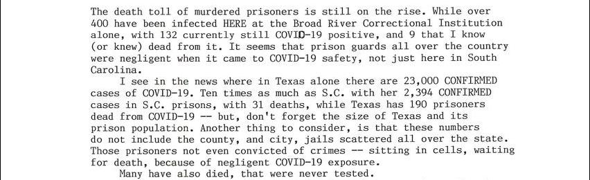 Covid-19 Death Row Convicted ---- Part 2